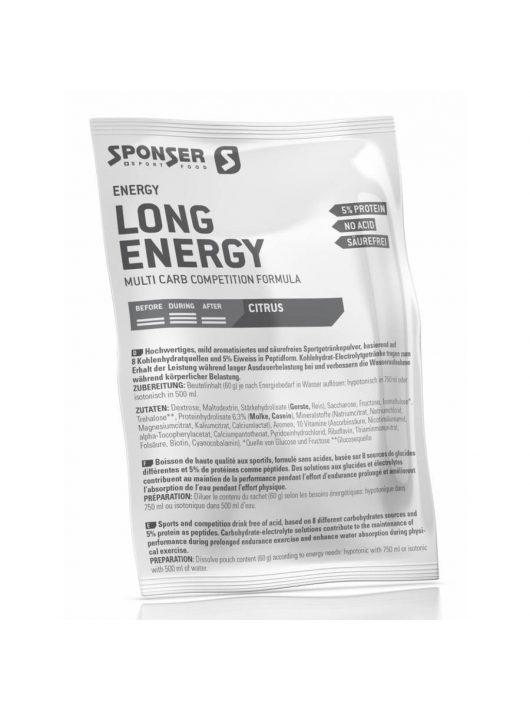 Sponser Long Energy Citrus (citrom ízű) 5% fehérjével 60 g
