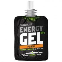 BioTech USA Energy Gel, őszibarack, 60 g