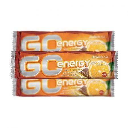 BioTech USA GO Energy szelet, narancs-étcsokoládé, 40 g